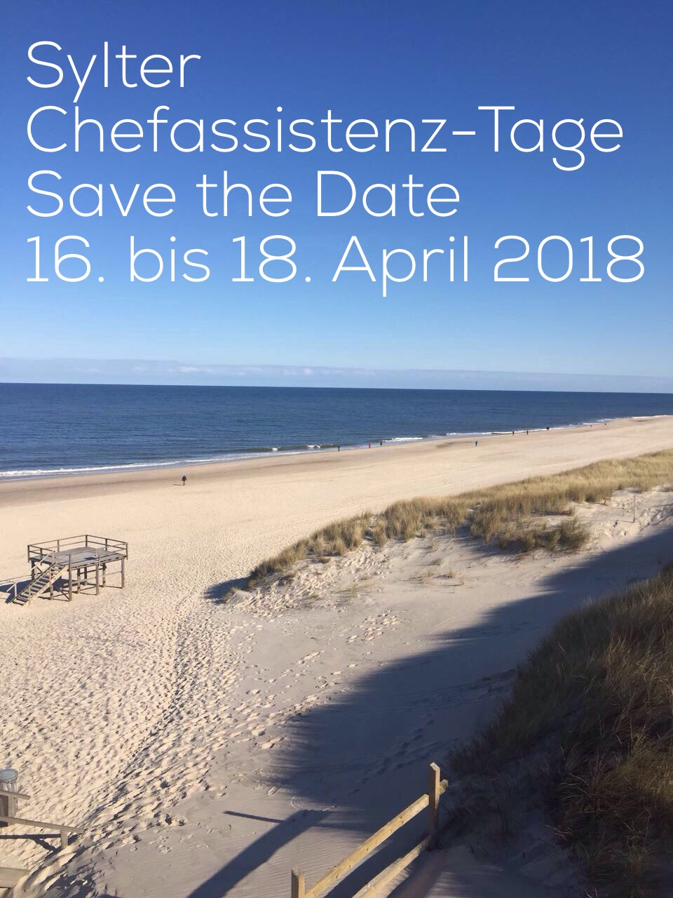 Save the date Chefassistenz