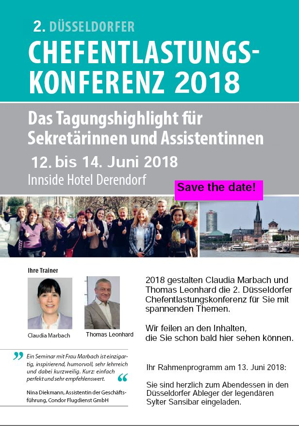 Save the date Chefkonf2018